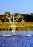 Lake and Pond Surface Aerators and Floating Fountain Features